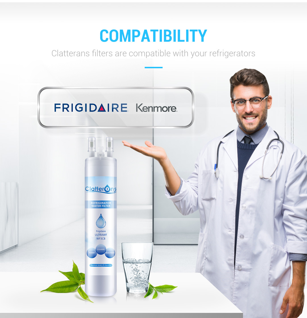 Frigidaire Water Filter Ultrawf Water Filter, Kenmore 9999 Water Filter, 3-Pack